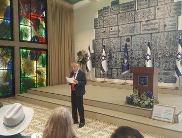 הוענקה תעודת הוקרה לתכנית המלגות IMPACT!של ארגון FIDF מטעם אגודת חוקרי צבא-חברה בישראל